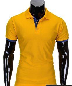 Geltonos spalvos vyriški polo marškinėliai vyrams internetu pigiau Gen S758
