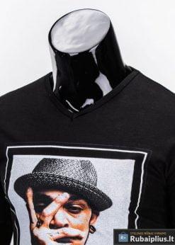 vyriški marškinėliai juodos spalvos, denim kolekcijos vyriški marškinėliai, trumpomis rankovėmis marškinėliai vyrams, klasikiniai vyriški marškinėliai, marškinėliai vyrams internetu, originalūs vyriški marškinėliai, marškinėliai vyrams spalvos, vyriški marškinėliai su užrašu ir aplikacija, marškinėliai uz gera kaina, protinga kaina, akcija, nuolaidos rūbams