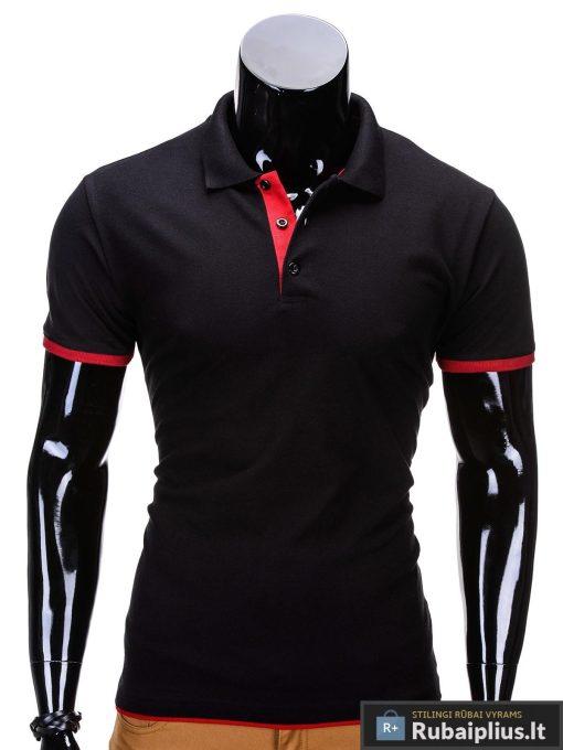 Juodos spalvos vyriški polo marškinėliai vyrams internetu pigiau Gen S758
