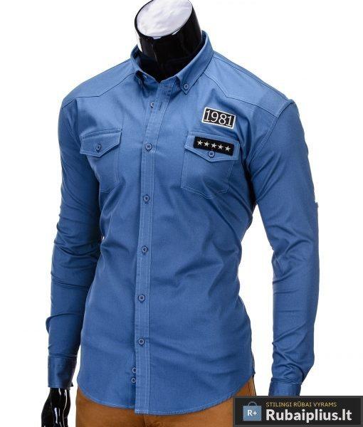 vyriški mėlynos spalvos marškiniai internetu, stilingi military stiliaus mėlyni marškiniai vyrams, madingi marškiniai vyrams ilgomis rankovemis, originalūs vyriški marškiniai internetu, klasikiniai marškiniai vyrams, stilingi marškiniai vyrams, aukšta kokybė, greitas pristatymas, apmokėjimas gavus prekes, vyriškų striukių išpardavimas