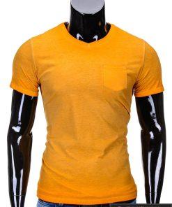 Oranžinėsspalvos vyriški marškinėliai vyrams internetu pigiau Den S674