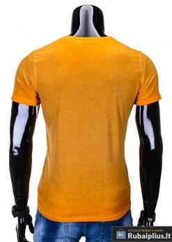 vyriški marškinėliai oranžinės spalvos, denim kolekcijos oranžiniai vyriški marškinėliai, trumpomis rankovėmis marškinėliai vyrams, klasikiniai vyriški marškinėliai, marškinėliai vyrams internetu, originalūs vyriški marškinėliai, marškinėliai vyrams spalvos, marškinėliai su užrašu ir aplikacija, marškinėliai uz gera kaina, protinga kaina, akcija, nuolaidos rūbams