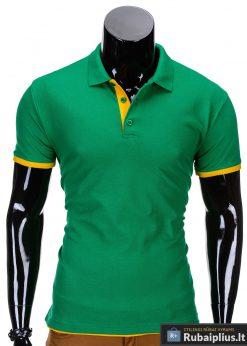 Žalios spalvos vyriški polo marškinėliai vyrams internetu pigiau Gen S758
