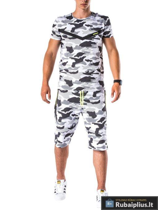 vyriskas kostiumas vasarai, kostiumas vasarai, vyriški šortai internetu, pirkti kamufliažiniai šortai, originalus šortai vyrams, mėlynos spalvos vyriški bridžai, bridžai vyrams gera kaina