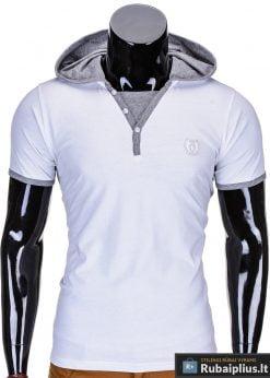 Baltos spalvos vyriški marškinėliai vyrams internetu pigiau Ozzi S682