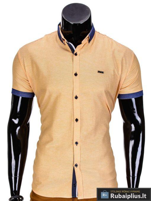 Rubaiplius.lt-geltonos-spalvos-vyriski-marskiniai-vyrams-trumpomis-rankovemis-liton
