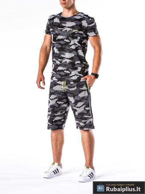 vyriskas kostiumas vasarai, kostiumas vasarai, vyriški šortai internetu, pirkti kamufliažiniai šortai, originalus šortai vyrams, juodos spalvos vyriški bridžai, bridžai vyrams gera kaina