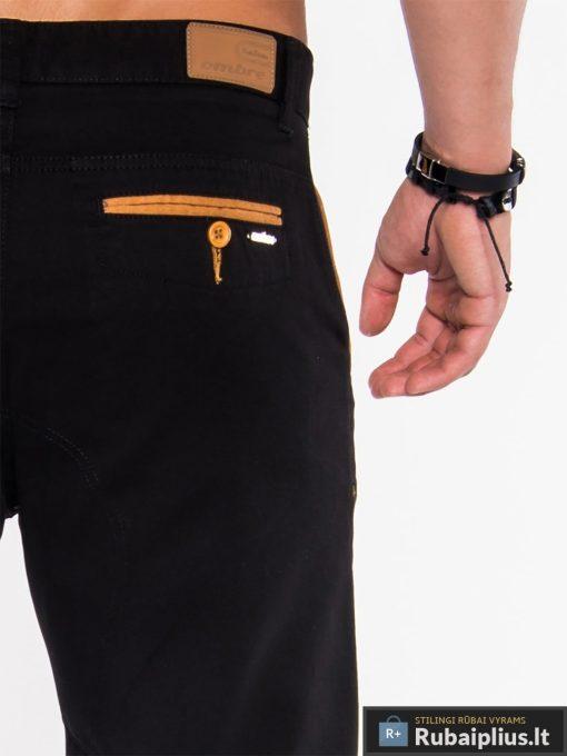 Stilingi juodos spalvos šortai, vyriški šortai internetu, pirkti džinsiniai šortai, originalus šortai vyrams, juodos spalvos vyriški bridžai, bridžai vyrams gera kaina