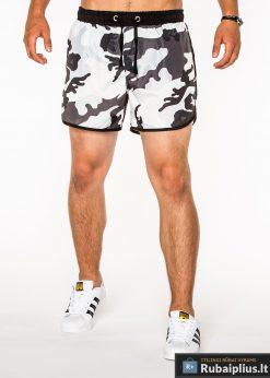 Pilkos spalvos kamufliažiniai vyriški šortai vyrams internetu pigiau Dudu W038P-1