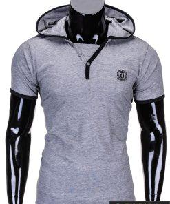 Pilkos spalvos vyriški marškinėliai vyrams internetu pigiau Ozzi S682