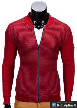 Raudonos spalvos vyriškas džemperis Ombre B551