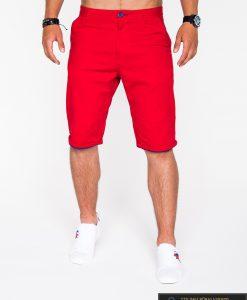 raudoni vyriški šortai, stilingi šortai vyrams, vyriški šortai internetu, pirkti džinsiniai šortai, originalus šortai vyrams, raudonos spalvos vyriški bridžai, bridžai vyrams gera kaina
