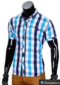vyriski marskiniai, melyni marskiniai, languoti marskiniai, stilingi marškiniai, marškiniai internetu, vyriški marškiniai, klasikiniai marškiniai, marškiniai vyrams