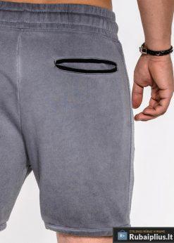 vyriski sortai, pilki vyriški šortai, vyriški šortai internetu, pirkti džinsiniai šortai, originalus šortai vyrams, pilkos spalvos vyriški bridžai, bridžai vyrams gera kaina