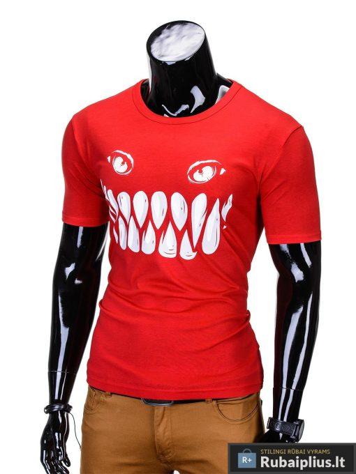isskirtiniai marskineliai, vyriški marškinėliai raudonos spalvos su isskirtine aplikacija, denim kolekcijos vyriški marškinėliai, trumpomis rankovėmis marškinėliai vyrams, klasikiniai vyriški marškinėliai, marškinėliai vyrams internetu, originalūs vyriški marškinėliai, marškinėliai vyrams spalvos, vyriški marškinėliai su užrašu ir aplikacija, marškinėliai uz gera kaina, protinga kaina, akcija, nuolaidos rūbams