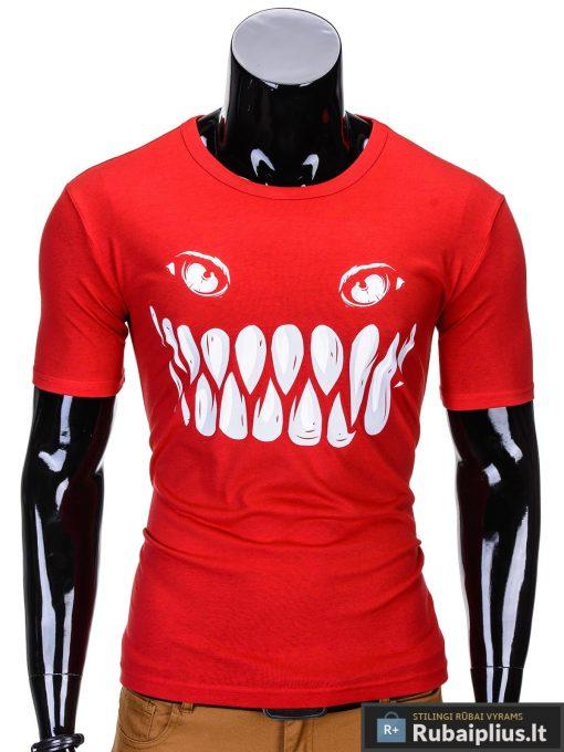 Rubaiplius.lt-vyriski-raudonos-spalvos-vyriski-marskineliai-vyrams-evil