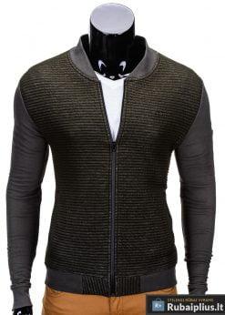 Žalios-melanžinės spalvos vyriškas džemperis Ombre B551