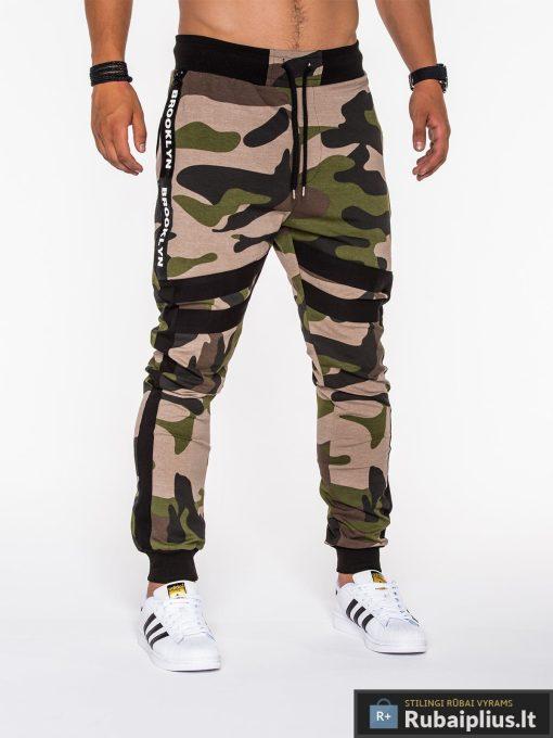 kamuflezines kelnes, žalios spalvos kelnės su kišenėmis, žalios laisvalaikio vyriškos kelnės, jogger stiliaus kelnės, kamufliažinės, džinsinės kelnės, vyriškos kelnės, kelnės vyrams, sportinės kelnės, laisvalaikio kelnės