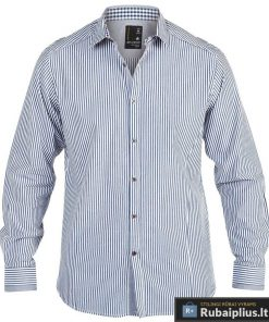 Baltos spalvos dryžuoti vyriški marškiniai vyrams internetu pigiau Axel KS11071