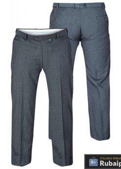 Didelių dydžiųklasikinio stiliaus tamsiai pilkos spalvos vyriškos kelnės vyrams internetu Supreme KS1406TP