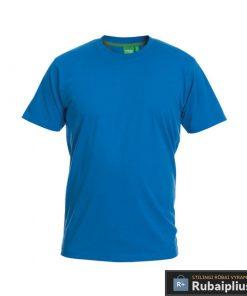 Didelių dydžių mėlynos spalvos vyriški marškinėliai vyrams internetu FLYERS KS16581M