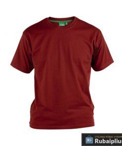 Didelių dydžių raudonos spalvos vyriški marškinėliai vyrams FLYERS KS16581R