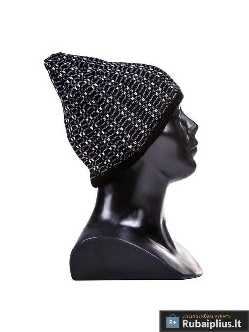 Juodos spalvos rastuota vyriska kepure vyrams Gan A022-2