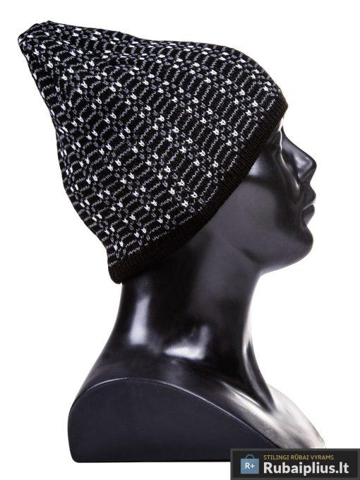 Juodos spalvos raštuota vyriška kepurė vyrams Gan A022-1