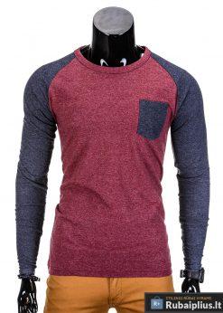 Raudoni ilgomis rankovėmis vyriški marškinėliai internetu pigiau Gruv L67