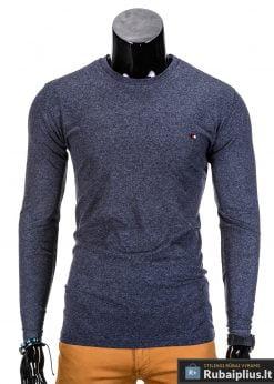 Tamsiai mėlyni ilgomis rankovėmis vyriški marškinėliai internetu pigiau Uno L68