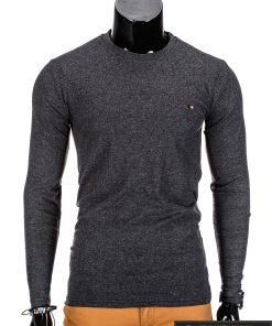 Tamsiai pilki ilgomis rankovėmis vyriški marškinėliai internetu pigiau Uno L68