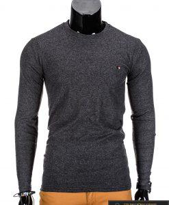 Vyriški marškinėliai tamsiai pilkos spalvos ilgomis rankovėmis.