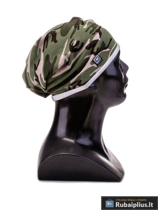 tamsiai žalia kamufliažinė vyriška kepurė, kepurės, kepurės vyrams, vyriškos kepurės, kepurė vyrams, vyriška kepurė