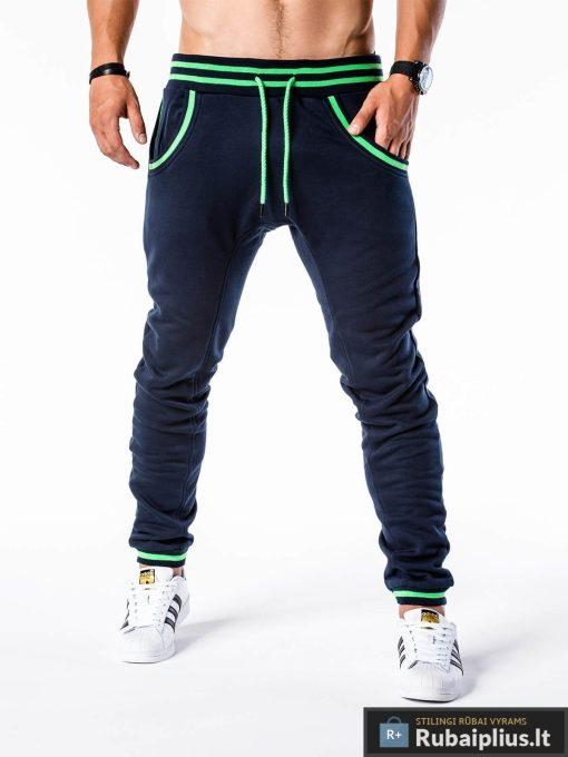 tamsiai mėlynos sportinės kelnės, vyriškos kelnės sportui, laisvalaikio kelnės vyrams, sportinės vyriškos kelnės, laisvalaikio kelnės su kišenėmis, treningai, sportinė apranga