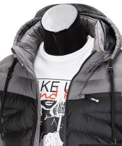 dvieju spalvu striuke, dvispalve striuke, pilka vyriska striuke, pilka-juoda striuke vyrams, vyriskos striukes internetu, stilinga vyriška striukė, vyriška striukė rudeniui, madingos vyriškos striukės internetu, rudenine striukės, pavasarinė striukės, originalios striukės, aukštos kokybės, nuolaida, akcija, aukšta kokybė, greitas pristatymas, apmokėjimas gavus prekes