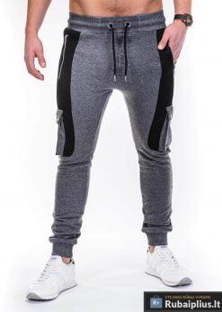 Pilkos sportinės kelnės vyrams internetu pigiau Jambo P424