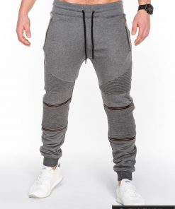 Pilkos vyriškos sportinės kelnės vyrams internetu pigiau Zero P463