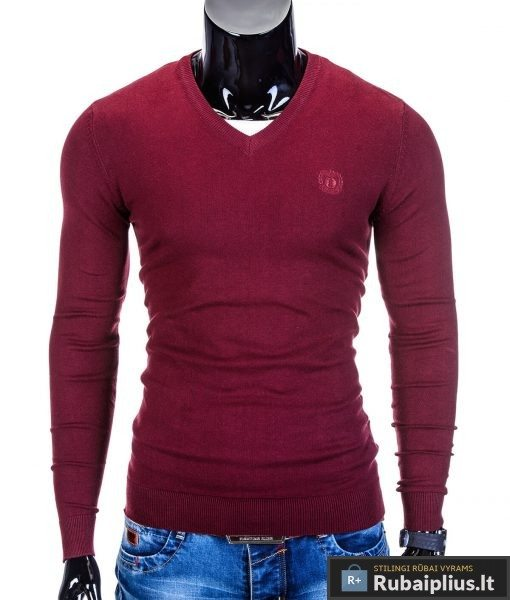 rubaiplius-raudonas-vyriskas-megztinis-dzemperis-vyrams-ombre
