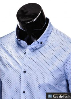 isskirtiniai marskiniai, šviesiai mėlyni vyriski marskiniai, madingi marškiniai vyrams ilgomis rankovemis, vyriški marškiniai internetu, originalūs vyriški marškiniai internetu, klasikiniai marškiniai vyrams, stilingi marškiniai vyrams, marškiniai vyrams aukštos kokybės