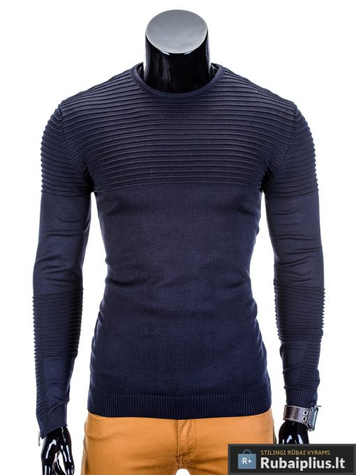 rubaiplius-tamsiai-melynas-vyriskas-megztinis-dzemperis-vyrams-roko