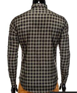 languoti vyriški chaki spalvos marškiniai internetu, stilingi languoti marškiniai vyrams, madingi marškiniai vyrams ilgomis rankovemis, originalūs vyriški marškiniai internetu, klasikiniai marškiniai vyrams, stilingi marškiniai vyrams, aukšta kokybė, greitas pristatymas, apmokėjimas gavus prekes, vyriškų striukių išpardavimas