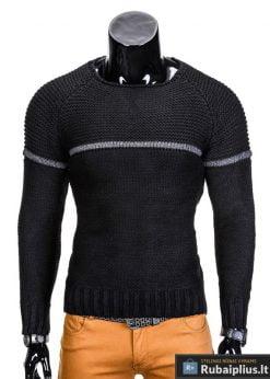 Juodas vyriškas megztinis internetu pigiau Brend E97 džemperis vyrams