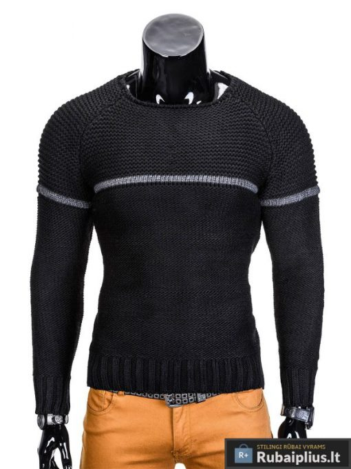rubaiplius-juodas-vyriskas-megztinis-dzemperis-vyrams-brend-1