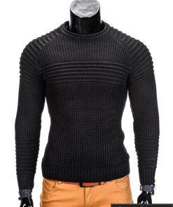 Juodas vyriškas megztinis internetu Guru E96 džemperis vyrams pigiau