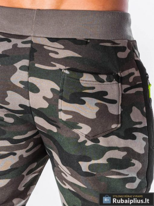 kamuflezines vyriškos kelnes, žalios rudos spalvos kamufliažinės kelnės vyrams su kišenėmis, žalios laisvalaikio vyriškos kelnės, jogger stiliaus kelnės, kamufliažinės, džinsinės kelnės, vyriškos kelnės, kelnės vyrams, sportinės kelnės, laisvalaikio kelnės