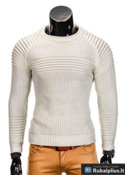 Kreminis vyriškas megztinis internetu Guru E96 džemperis vyrams pigiau
