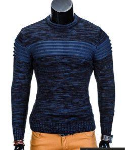 Mėlynas vyriškas megztinis internetu Faruk E99 džemperis vyrams pigiau