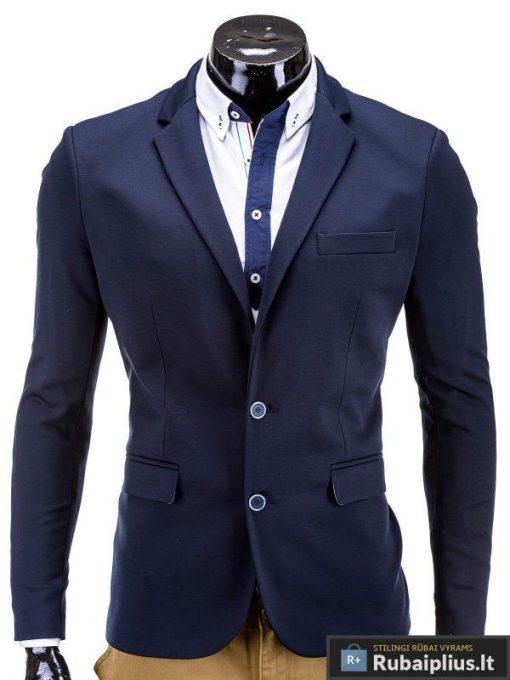 Tamsiai mėlynas vyriškas švarkas vyrams prie džinsų bleizeris internetu MARTIN M53