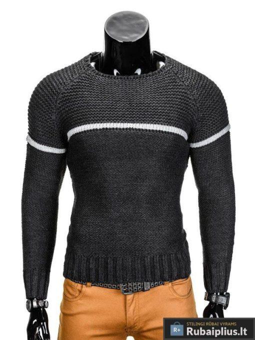 Tamsiai pilkas vyriškas megztinis internetu Brend E97 džemperis vyrams pigiau