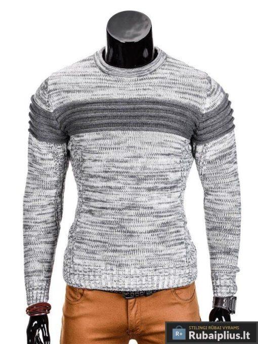 Pilkas vyriškas megztinis internetu Faruk E99 džemperis vyrams pigiau